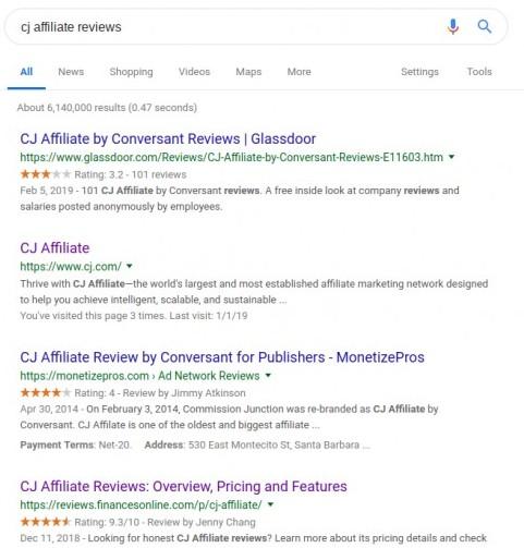 cj affiliate reviews