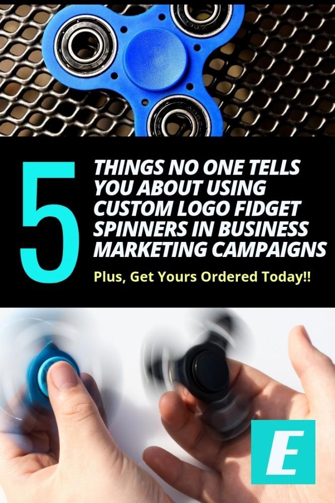 custom logo fidget spinners