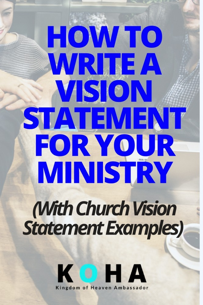 church vision statement examples