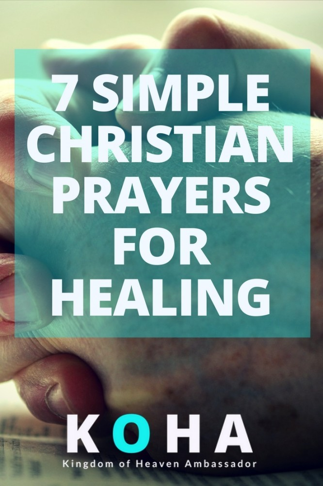 simple christian prayers for healing