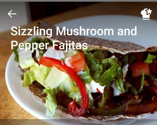 Sizzling Mushroom and Pepper Fajitas