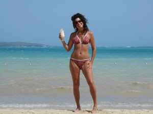 Me on the beach in Punta Cana