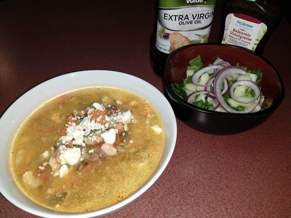 Greek Fish Stew with Mediterranean Salad