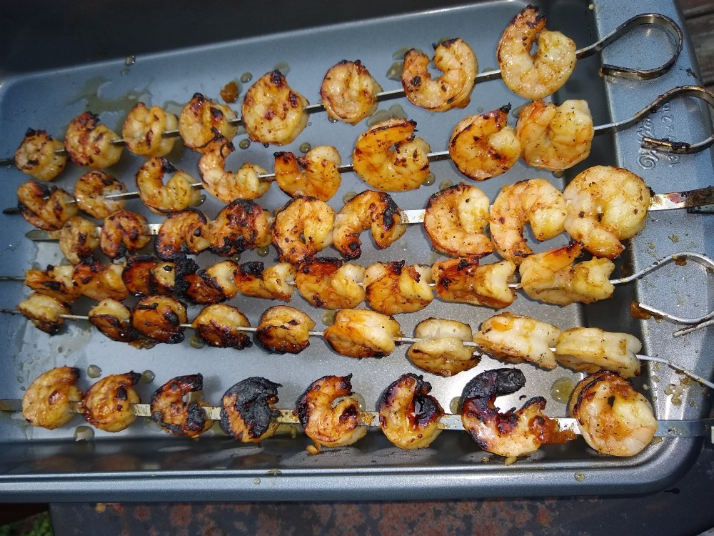 Shrimp Skewers are done