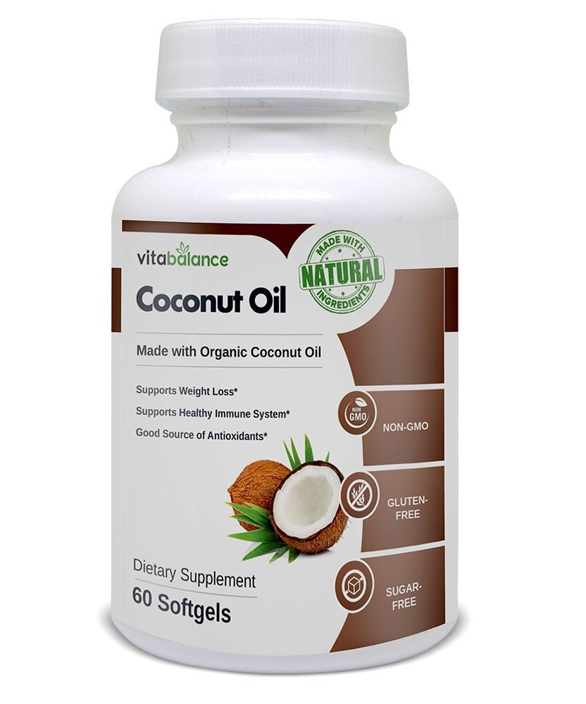 Coconut Oil Supplement made with organic coconut oil