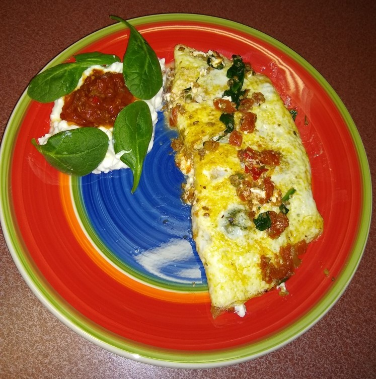 Hearty Spinach & Cottage Cheese Omelette