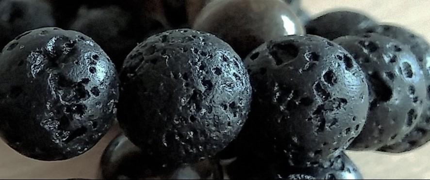 lava rock bead