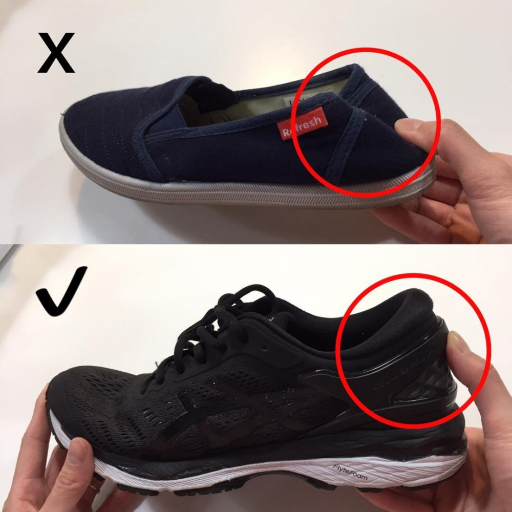 Supportive footwear comparison