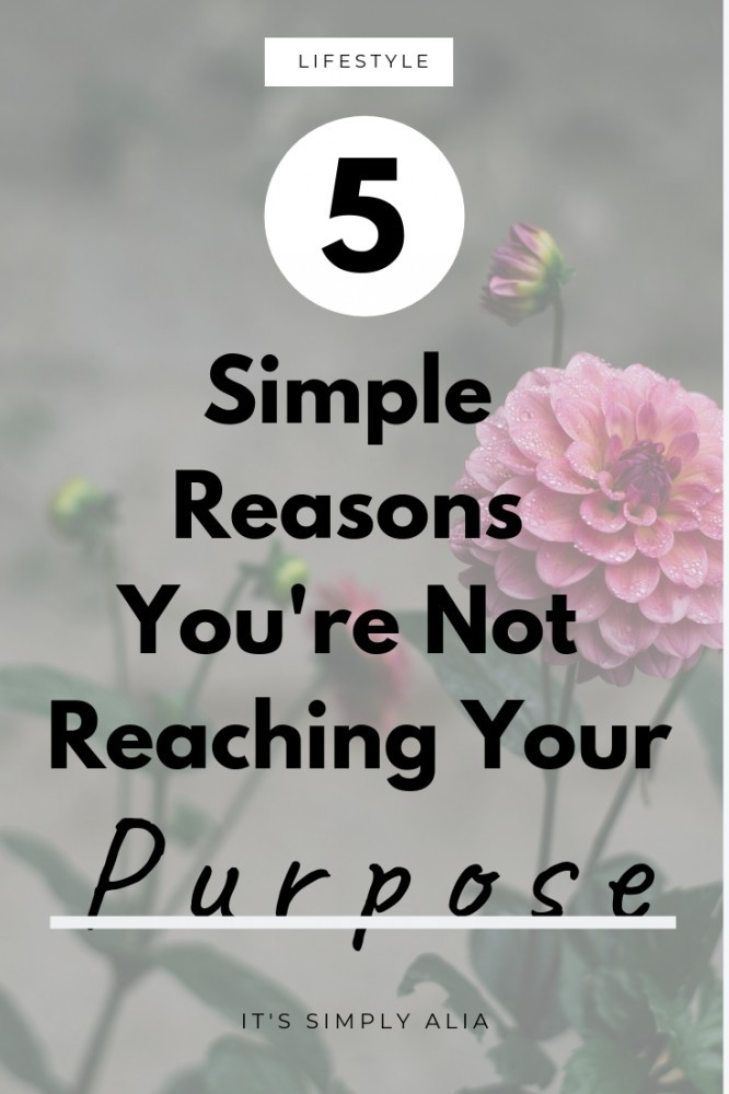 If you want to reach your goal or fulfill your purpose, but it seems like you can't reach it, here's 5 simple reasons you're not reaching your purpose.