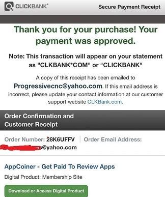 receipt for Viral Cash App
