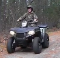 This is an image of an ATV IN THE 5 Deer Hunting Tips and Tricks to See More pressured Deer!