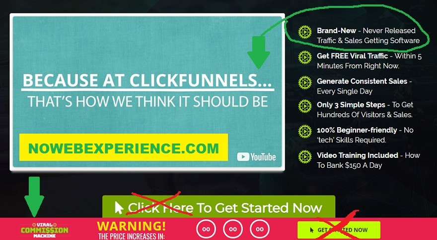YouTube video of Click Funnels