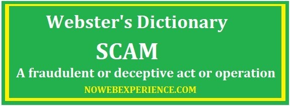 This image contains the text from Webster's dictionary that indicates AZ Sniper to be a scam