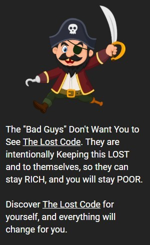 this is a graphic from The Lost Code sales page