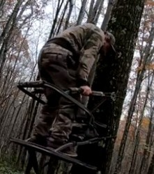 This is a picture of a treestand for hunting public lands