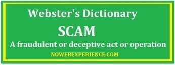 Is Daily Cash Siphon a Scam according to this image containing the definition of a scam?