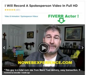 This is a picture of the Fiverr profile of paid actors in the is Fast Profits a scam review