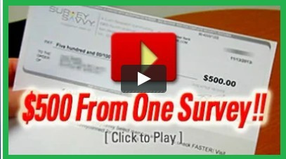 Image of a check for $500 for doing one survey