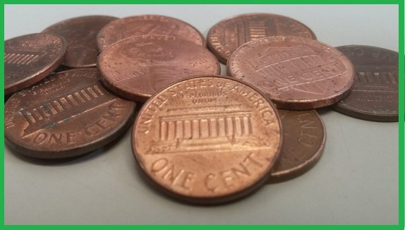 Photo of pennies which is likely what you will earn with a product like 30 Day Success Club