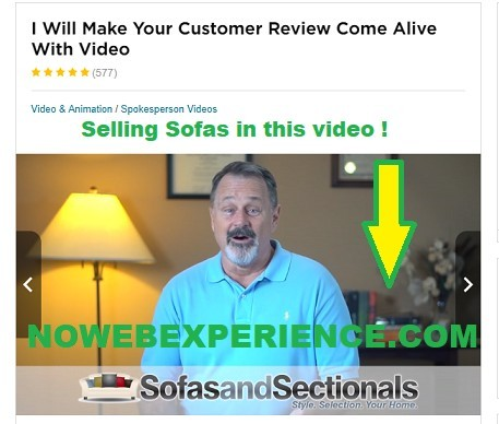 picture iofsame fiverr actor from the fake testimonials on Easy Retired Millionair doing fake sofa videos