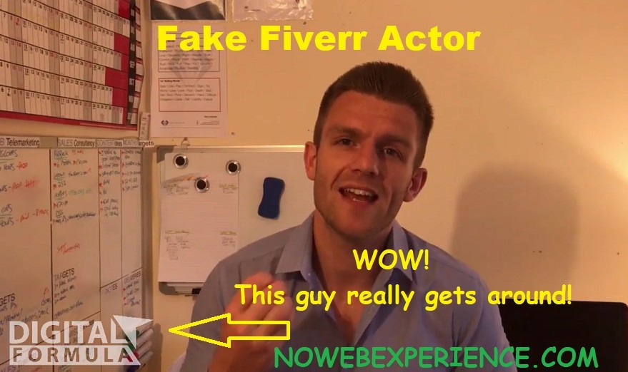 fake fiverr actor from the digital formula sales video testimonials