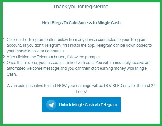Is Mingle Cash a scam with an added app