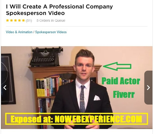 image from the fiverr account of a guy wjho claims he has made a lot of money with Kindle Sniper, but is just a paid actor