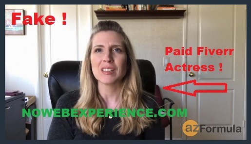 Picture of paid actress in The AZ Formula sales video