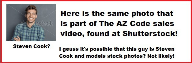 A picture of the the owner of The AZ Formula found on a stock image website