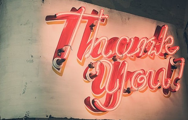 Image of a Thank You sign to say thank you for reading my review!