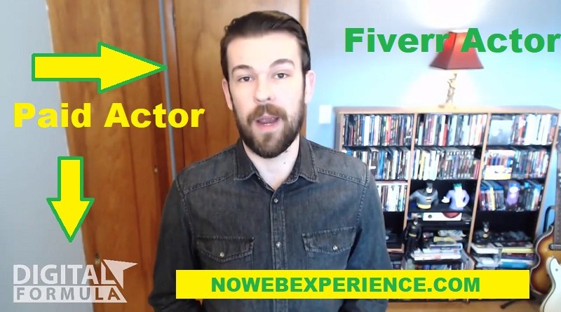 This is a picture of one of the paid actors in the Digital Formula sales video giving their fake testimonial