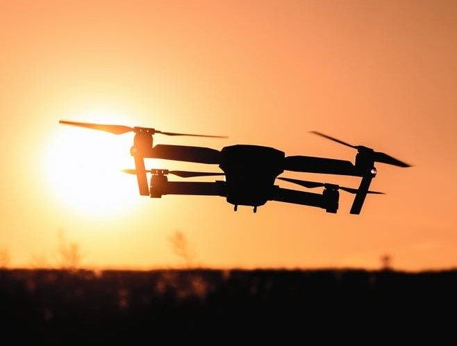 This is an image of a drone that Derrick started his niche website blog about