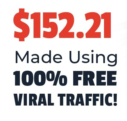 This graphic from the Video Profit Machines 2.0 claims that they make $150 a day with free viral traffic