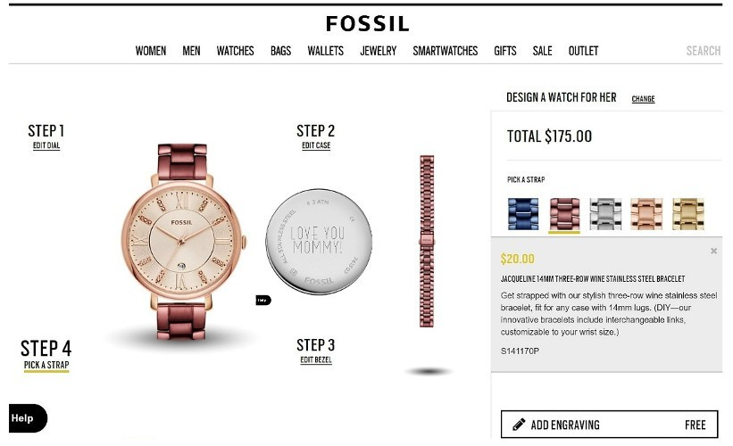 Personalized Fossil Watch