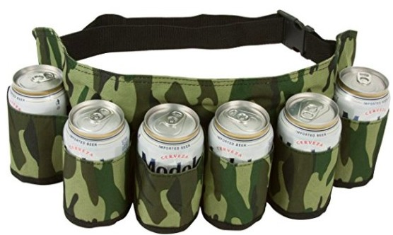EZ Drinker Beer & Soda Can Holster Belt
