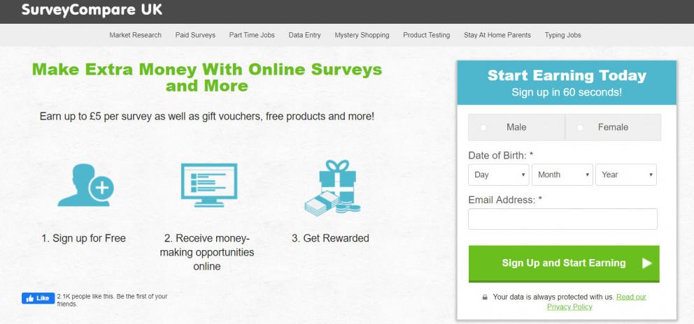 Survey Compare website