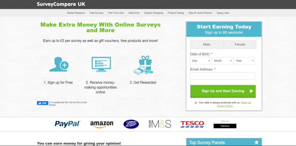 Survey Compare UK website