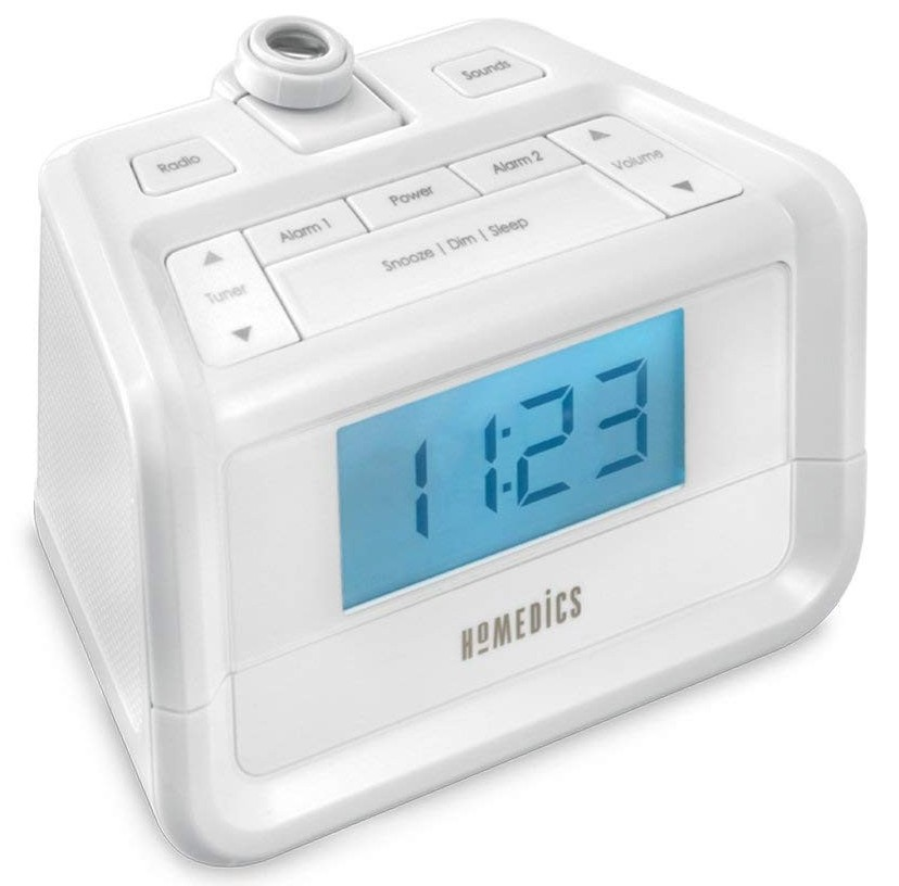 Dual alarm clock with nature sounds