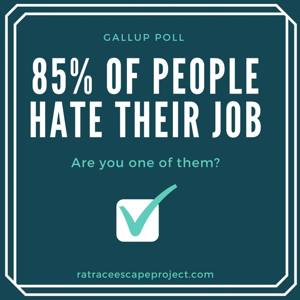 85{d91f6d3a546aa94218aa52b9342b560c762481951afdde4bbfe6f80b47780330} of people hate their job