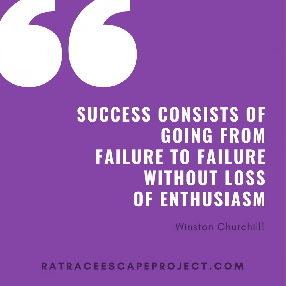 Success Consists of: Winston Churchill Quote