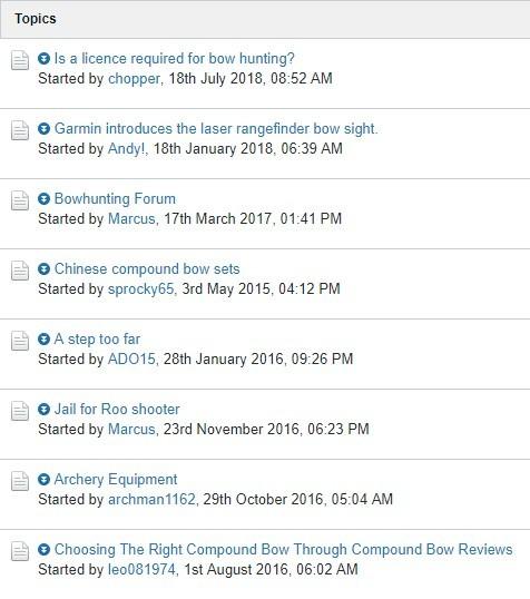 Archery Forum Post Titles