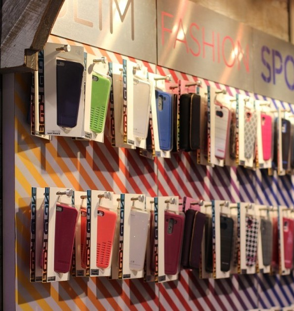 Iphone cases on a sales rack