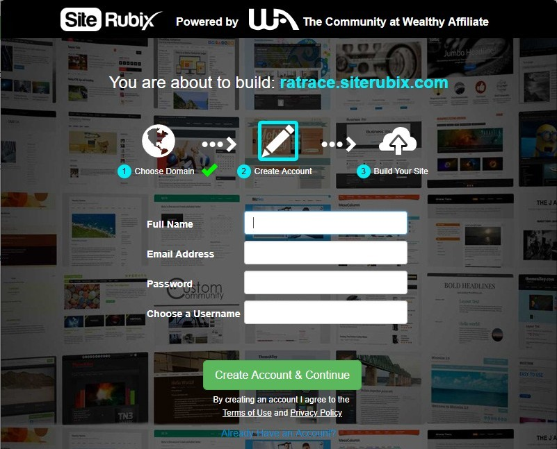 Free starter Membership Account Set Up at Wealthy Affiliate screen shot