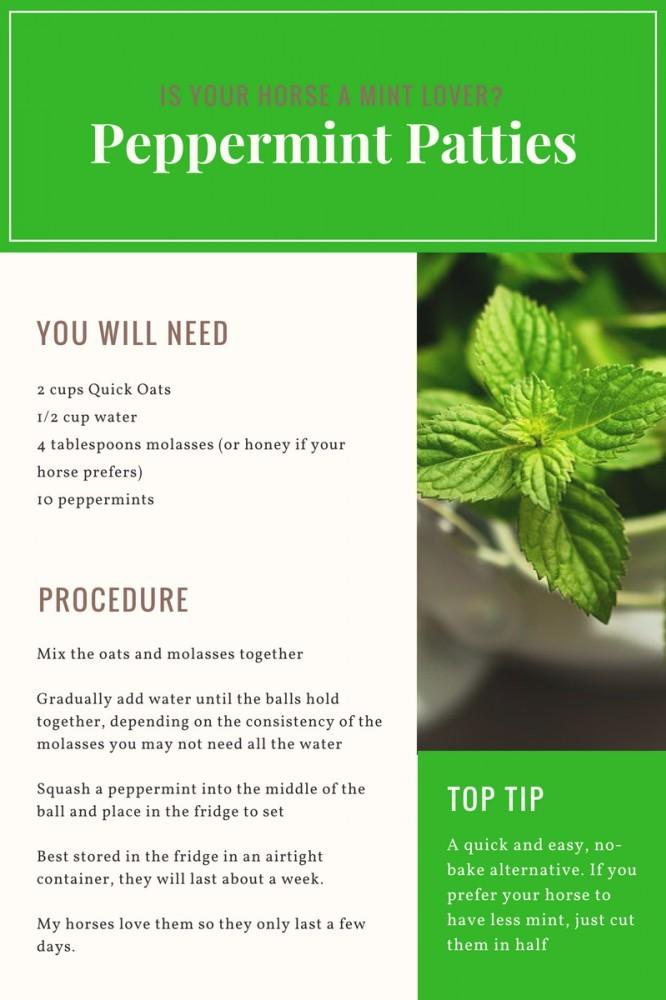 Pappermint Patties - Horse Treats Recipes