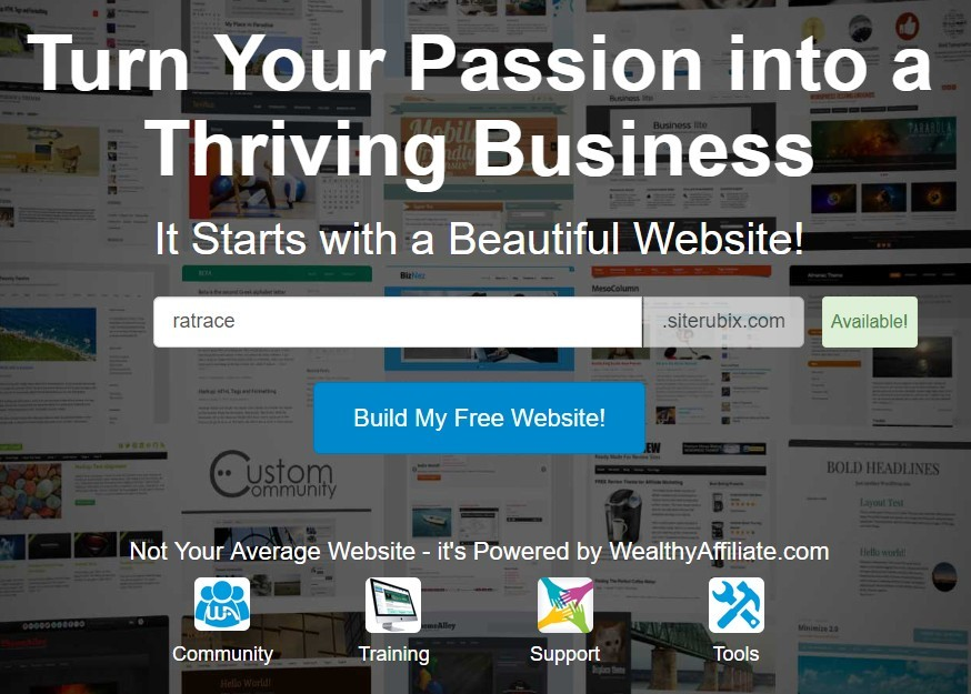 Build My Free Website screen shot
