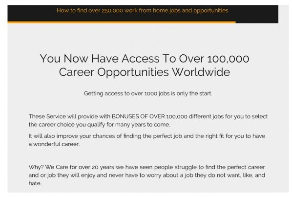 How To Find Over 250,000 Work At Home Jobs