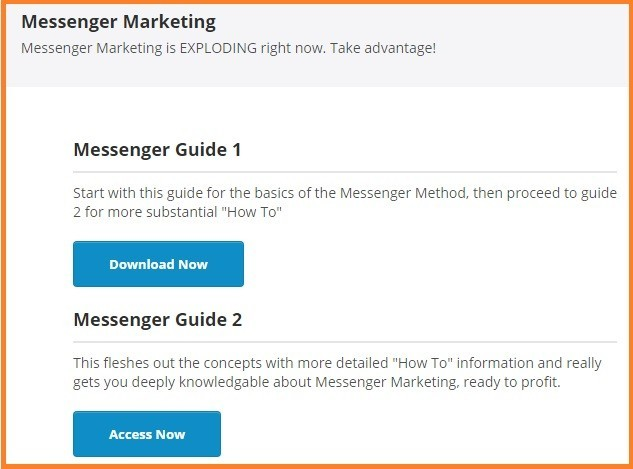 Messenger marketing guides one and two