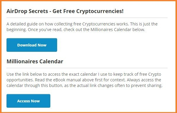 airdrop secrets and millionaires calendar downloads