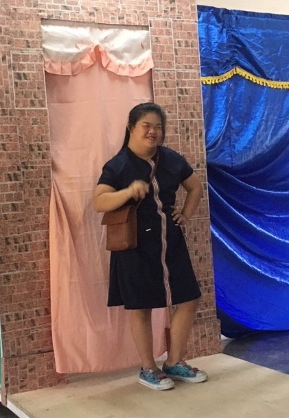 Our special kid with Down Syndrome showcasing her modelling talent