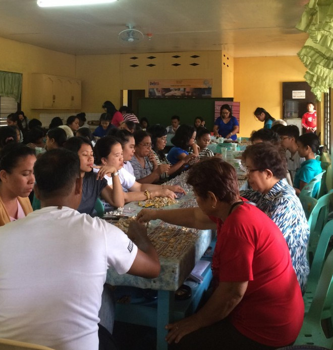How to share your blessings, Bingo social fundraising for the mini-therapy area